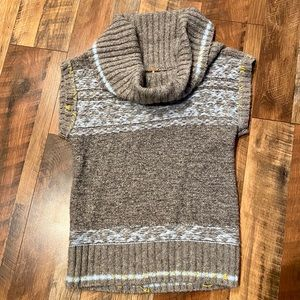 FREE PEOPLE Cowl Neck Fair Isle Now Drift Sweater